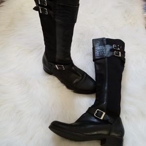 Cole Haan Nike Air black riding boots 8.5